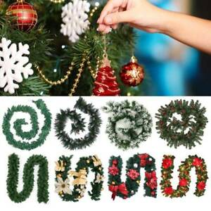 Christmas-Wreath-Rattan-Garland-With-LED-Light-Home-Door-Window-Hanging-Decor-AU