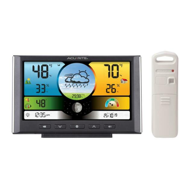 AcuRite Weather Forecaster Wireless Digital Color Display Indoor/Outdoor Sensor