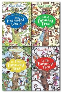 Enid-Blyton-039-s-The-Magic-Faraway-Tree-Collection-4-Books-Set-Pack-Enchanted-Wood