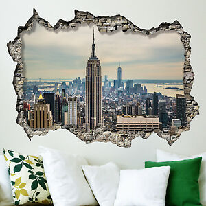 Wall mural photo large new york sunrise scene wallpaper for Black and white new york mural wallpaper