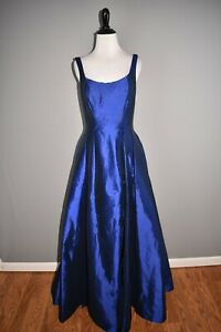 MAC DUGGAL NEW $358 Sapphire Square Neck High Slit Ball Gown Dress Size 4