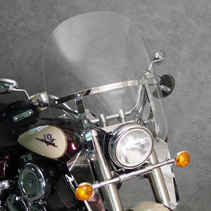 Details about Yamaha XVS 650/1100 V-Star CLASSIC 2up switchblade windshield  & installation kit