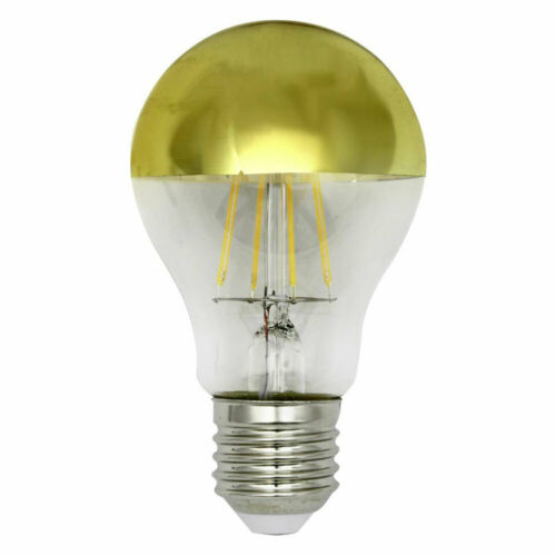 LightMe LED Filament Birnenform A60 4W = 40W E27 Kopfspiegel Gold 400lm warmweiß