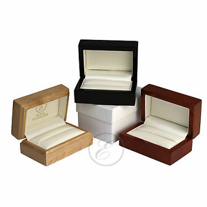 Stunning-Deluxe-Wooden-Double-Ring-Box-039-039-Black-039-039-Mahogany-039-039-039-039-Maple-039-039