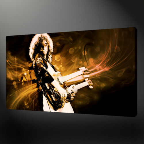 JIMMY PAGE LED ZEPPELIN CANVAS WALL ART PICTURES PRINTS FREE UK P/&P
