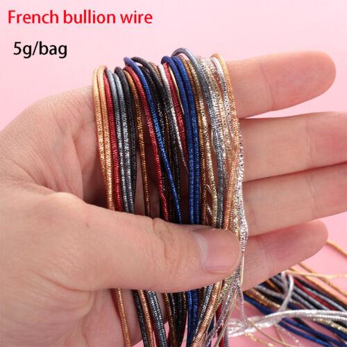 Machine Crafts Cross Stitch Embroidery Thread french bullion wire Indian silk