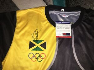 Usain Bolt Signed Rio Olympics Jersey Gold Medal Fastest N ...