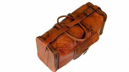 Travel Duffle Weekend Holdall Overnight Duffel Vintage Bag Heavy Duty Leather