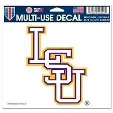 """LSU Tigers NCAA 4.5"""" x 6"""" Car Window Cling Decal Louisiana State Wincraft 886217"""
