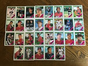 1988-CHICAGO-WHITE-SOX-Topps-COMPLETE-Baseball-Team-SET-29-Cards-FISK-BAINES
