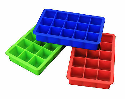 "Epicurean Silicone Ice Cube Trays Classic 1¼"" Square Ice Cubes"