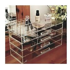 Large Make Up Storage Box Big Clear Jewelry Cosmetic Display Organizer Case New