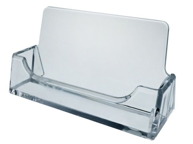 10 Clear Plastic Acrylic Desktop Business Card Holder Display Azm