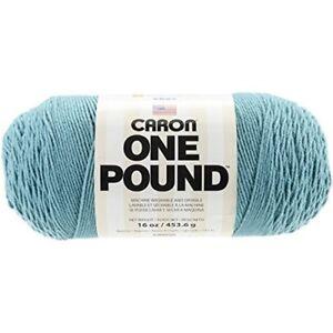 Caron-One-Pound-Solids-Yarn-4-Medium-Gauge-100-Acrylic-16-Oz-Aqua