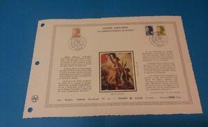 FRANCE-DOCUMENT-ARTISTIQUE-YVERT-2239-41-LIBERTE-DELACROIX-PARIS-1982-L600