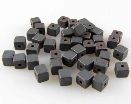 735 40 St Hématite Perles Cube 4 mm Matt bastelperlen Metallgrau pour auffädeln
