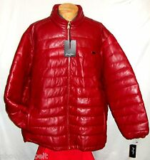 **NEW> 5XL * SEAN JOHN RED LEATHER WINTER PUFFER Jacket/Coat**$495***NEW w/TAGS