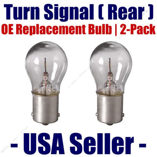 Rear Turn Signal//Blinker Light Bulb 2-pack Fits Listed BMW Vehicles 7506