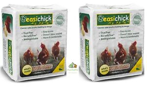 2-X-10KG-EASICHICK-BEDDING-BALES-POULTRY-CHICKEN-PIGEON-AVIARY-SMALL-ANIMAL-20KG