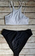 Missguided/New Look Super High Leg Crop Mix&Match Bikini Set 10 uk SE25