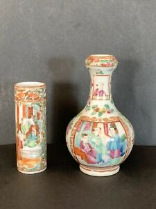 Two-Chinese-Famille-Rose-Vases