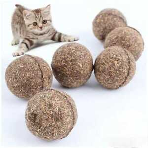 5x-Cute-Healthy-Pet-Toys-Natural-Catnip-Funny-Play-Treats-Toy-Ball-for-Cats