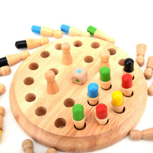 Kids Wooden Memory Match Stick Chess Game Educational Brain Training Toys Gift