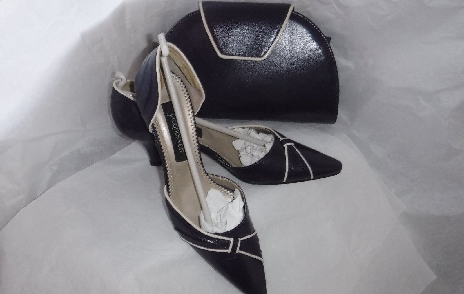 # JACQUES VERT Schuhe & BAG PURPLE/IVORY SIZE 38 UK 5. SIZE 4 ALSO AVAILABLE