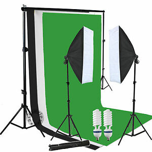 Studio-Softbox-Continuous-Lighting-Equipment-Kit-with-Black-Green-White-Backdrop