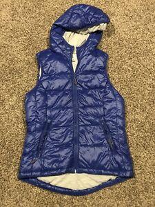 Tangerine Womens Size S Polyester Full Zip Hooded Puffer Vest A12