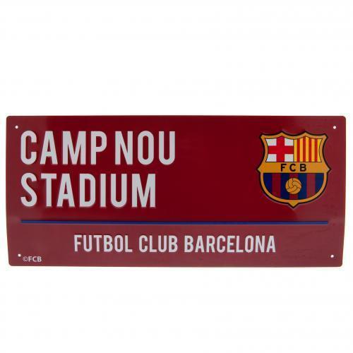 Official Merchandise COLOUR METAL STREET SIGN Metal Door Sign BARCELONA FCB