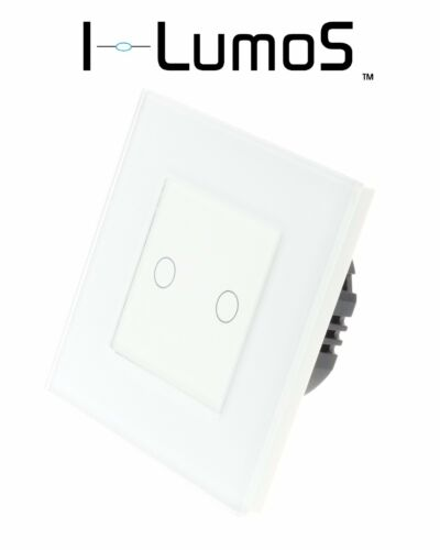 I LumoS Luxury White Glass Frame Touch WIFI/4G Remote On/Off LED Light Switches