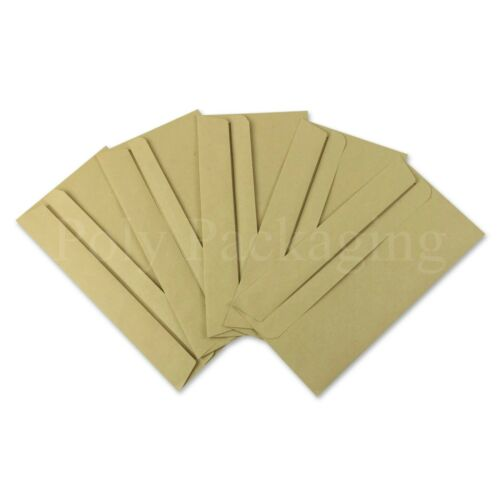 *Any Qty* Plain Manilla Self Sealing Seal Brown PAPER ENVELOPES DL 110x220mm