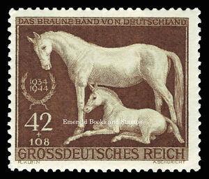 EBS-Germany-1944-Brown-Ribbon-Horse-Race-Braune-Band-Michel-899-MNH