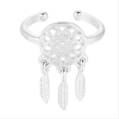 WISH GIFT Fashion Dream Catch Rings Feather Charm Pendant Ring - SIZE Adjustable