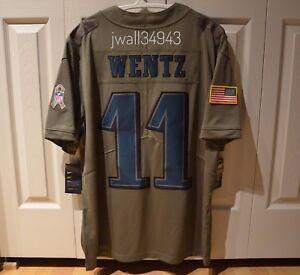 CARSON WENTZ Philadelphia Eagles Nike NFL Salute to Service Jersey ... 78a2e869a