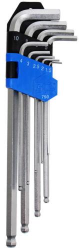 BGS Winkelschlüssel-Satz Innen-6-Kant extra lang 1,5-10 mm 9-tlg Innensechskant
