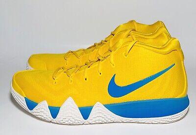 new product 013c5 ed8b2 Nike Kyrie 4 Kix Basketball Shoes Men's Size 15 BV0425 700 Yellow Blue NEW  | eBay