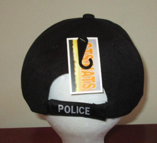 NEW Black Police Adjustable Hat Law Enforcement