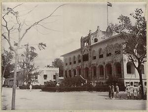 Tanzania Casa Di Dar Es Salam, Foto Vintage Stampa Aristotipia, Verso 1900