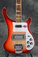 Rickenbacker 4003 Fireglo Fg 4 String Bass Red Solid Body Guitar W/ Ric Case