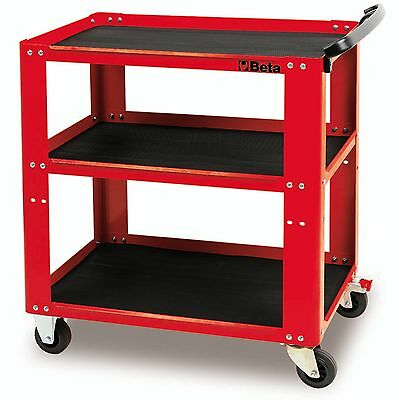 Beta Tools Workshop Tool Trolley Cart Box RollCab Roller Cabinet Red C51