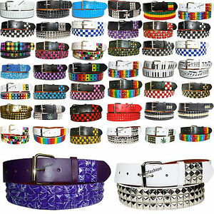 NEW-PYRAMID-STUDDED-MENS-WOMENS-BELT-WITH-REMOVABLE-BUCKLE-SMALL-TO-PLUSE-SIZE