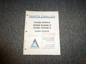 allis chalmers 3500 3700 mark ii 670 series parts catalog manual rh ebay com Allis Chalmers D21 Craigslist 426 Allis Chalmers Diesel Engine
