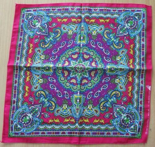 Nouvelle coloré graphique Paisley rose violet Bandana Head Wrap Hiphop Bikers Écharpe