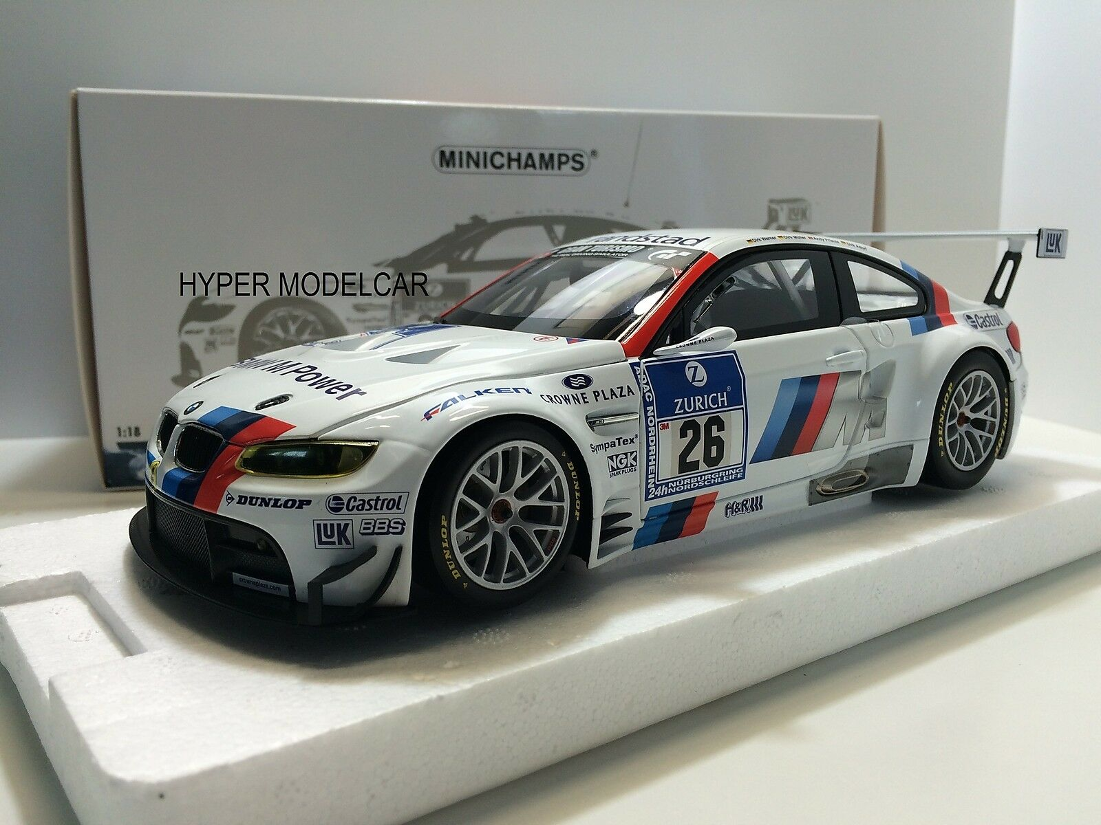 MINICHAMPS 1/18 Bmw M3 (E92) GT2 #26 24H Nurburgring 2010 Art.100102026 | Au Premier Rang Parmi Les Produits Similaires