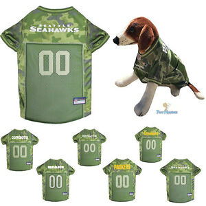 NFL Fan Gear CAMOUFLAGE Army Shirt Dog Jersey for Dogs-PICK YOUR ... 660009e7c
