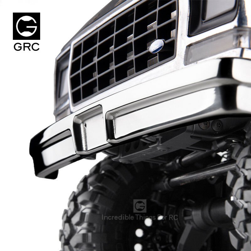 GRC High-gloss Stainless Steel Front Bumper For TRX-4 FORD BRONCO  GAX0102G