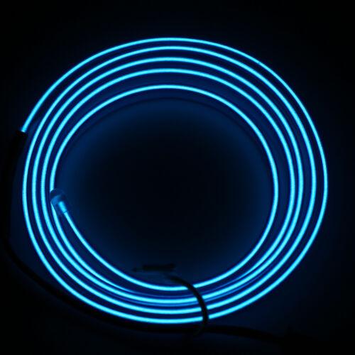 12V 2M LED Strip Lights Car Decorative Light Neon Lamp Luminescent Strips String