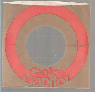 Company Sleeve 45 Capitol Brown W/ Red Circle On To Have A Long Historical Standing Music